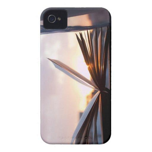 Abra el libro y la fotografía de la puesta del sol Case-Mate iPhone 4 cárcasas