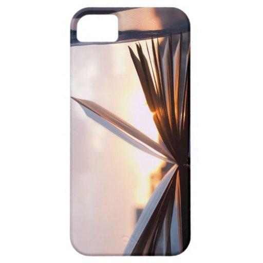 Abra el libro y la fotografía de la puesta del sol iPhone 5 protectores