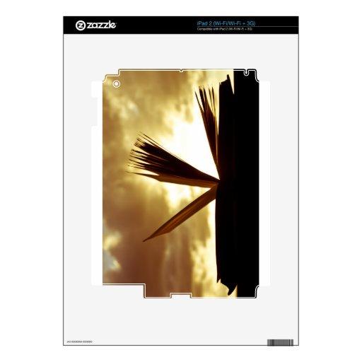 Abra el libro y la fotografía de la puesta del sol iPad 2 skins