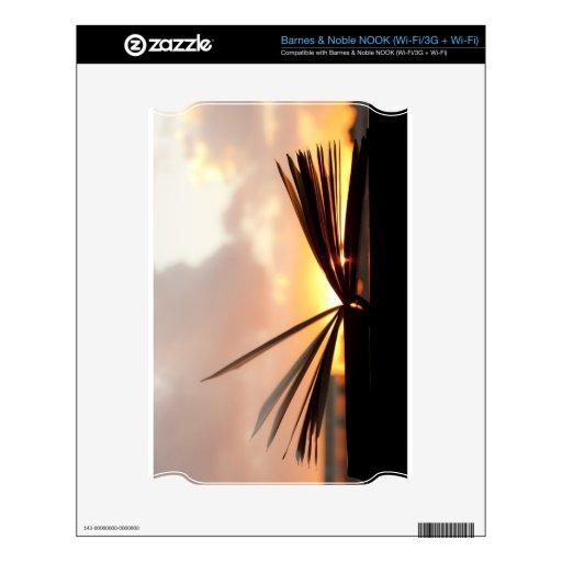 Abra el libro y la fotografía de la puesta del sol NOOK skins