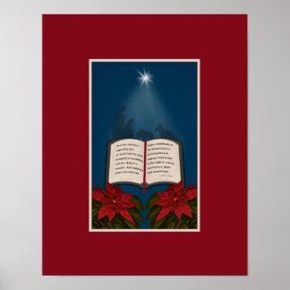Abra el mensaje del navidad de la biblia impresiones