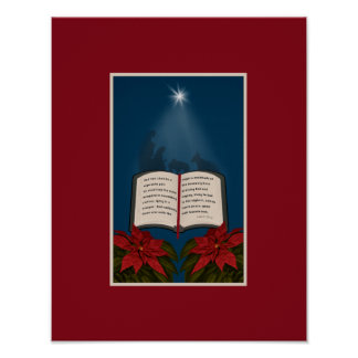 Abra el mensaje del navidad de la biblia póster