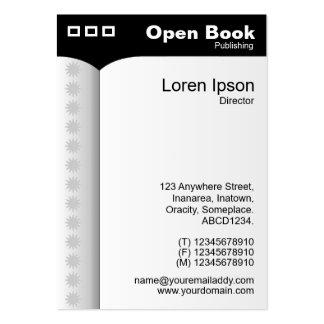 Abra el negro del libro (vertical) - plantilla de tarjeta de negocio