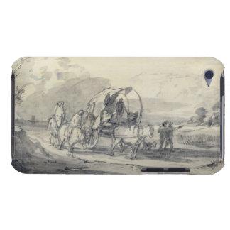 Abra el paisaje con el ganadero y el carro funda para iPod de Case-Mate