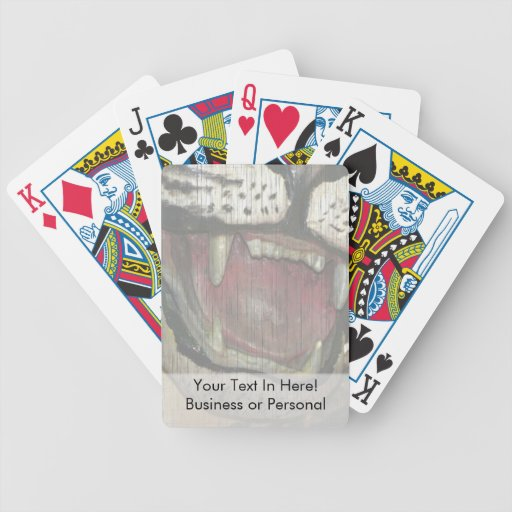 Abra el tigre que se descoloró la estatua de la bo cartas de juego