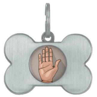 Abra el vector de la mano placas de mascota