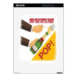Abra esa noche de la botella - día del aprecio iPad 2 calcomanía