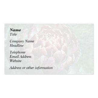 Abra la alcachofa plantillas de tarjetas de visita