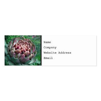 Abra la alcachofa tarjetas de visita
