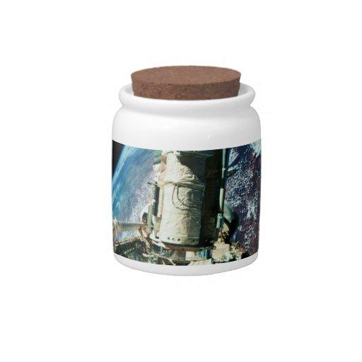 Abra la bahía de cargo 2 tarro de cerámica para dulces