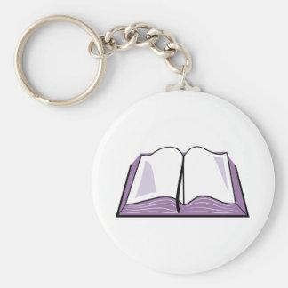 Abra la biblia llavero personalizado