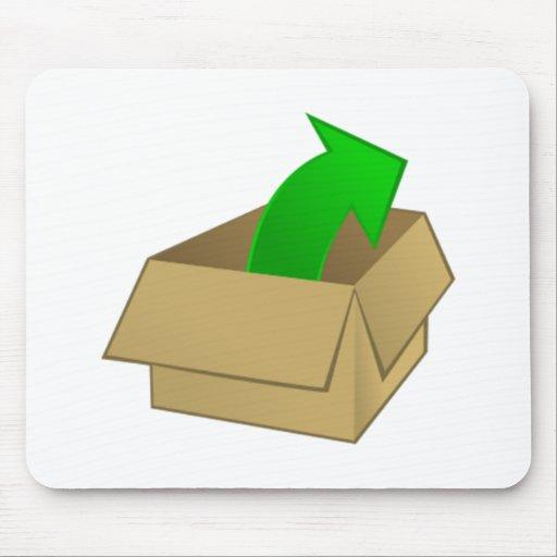 Abra la caja tapetes de raton