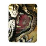 Abra la estatua de la boca del tigre iman rectangular