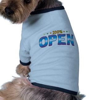Abra la etiqueta v2 de la estrella ropa para mascota