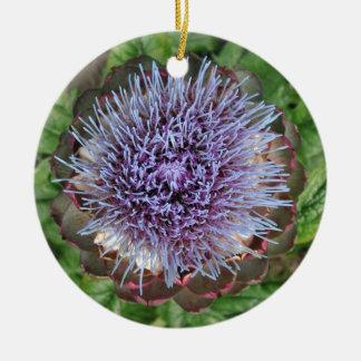 Abra la flor de la alcachofa Púrpura Adornos De Navidad