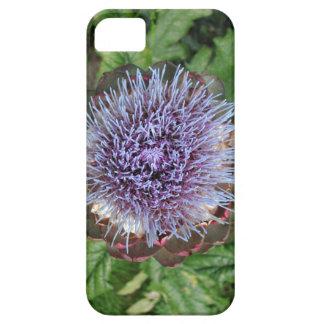 Abra la flor de la alcachofa. Púrpura iPhone 5 Funda