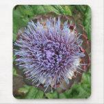 Abra la flor de la alcachofa. Púrpura Tapetes De Ratones