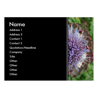 Abra la flor de la alcachofa. Púrpura Tarjetas De Negocios