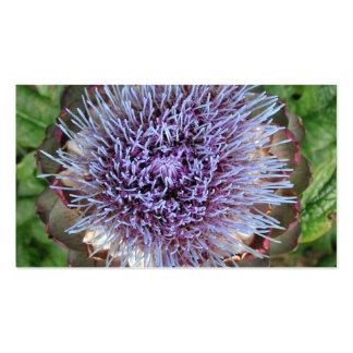 Abra la flor de la alcachofa. Púrpura Tarjeta De Visita