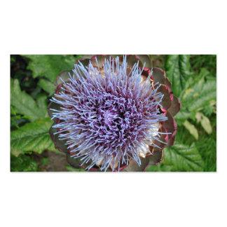 Abra la flor de la alcachofa. Púrpura Tarjeta Personal