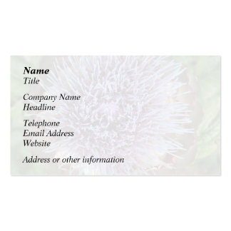 Abra la flor de la alcachofa. Púrpura Plantillas De Tarjeta De Negocio