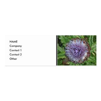 Abra la flor de la alcachofa. Púrpura Plantilla De Tarjeta Personal