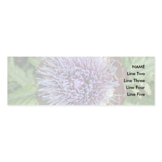 Abra la flor de la alcachofa. Púrpura Plantilla De Tarjeta De Negocio