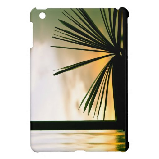 Abra la fotografía del libro y de la puesta del so iPad mini protector