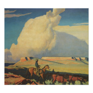 Abra la gama de Maynard Dixon, vaqueros del Posters