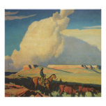 Abra la gama de Maynard Dixon, vaqueros del Póster