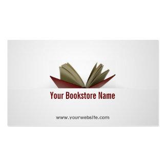 Abra la librería del libro/la tarjeta de visita de
