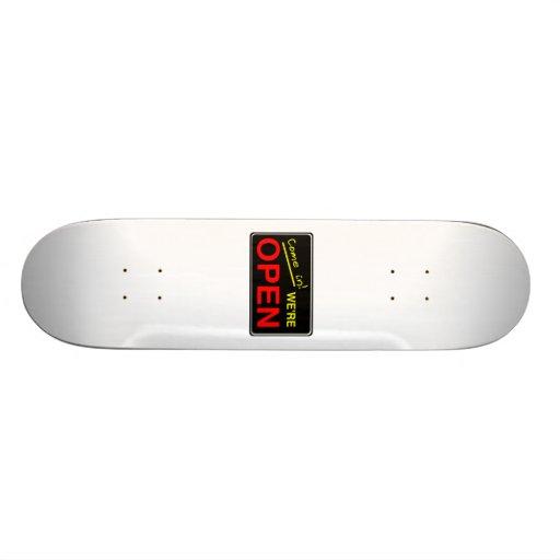 Abra la muestra skateboards