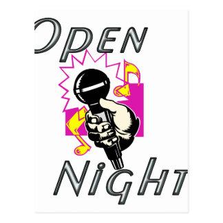 Abra la noche del Mic Tarjeta Postal