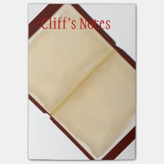 Abra la nota grande del Poste-it® del libro Post-it Notas