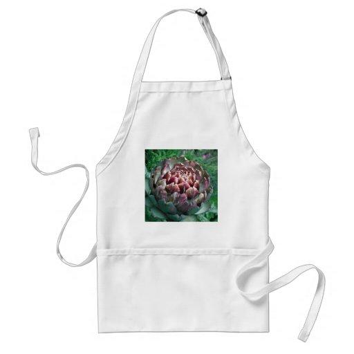 Abra la planta de alcachofa delantales