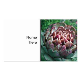 Abra la planta de alcachofa tarjetas de visita