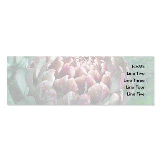 Abra la planta de alcachofa tarjeta de visita