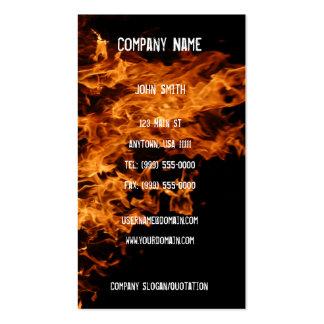 Abra la tarjeta de visita del fuego