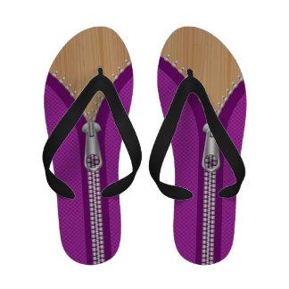 Abra la textura púrpura de la cremallera y de made