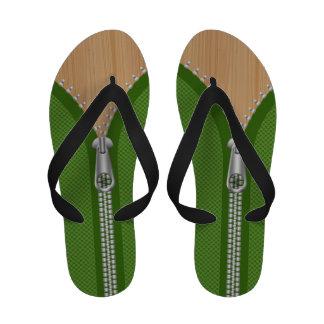 Abra la textura verde de la cremallera y de madera