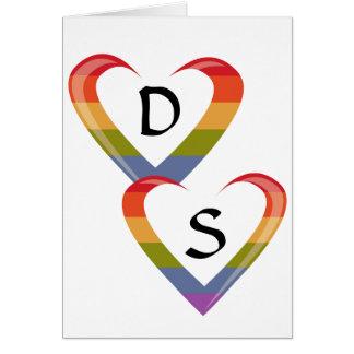 Abra los corazones tarjetas