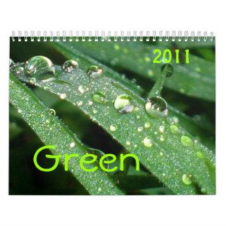 Abra los ojos - verde calendario de pared
