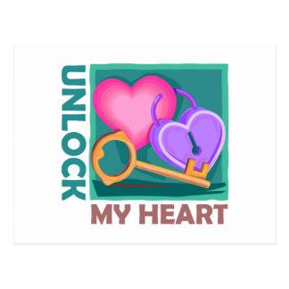 Abra mi corazón: Ame la llave para el el día de Sa Tarjeta Postal