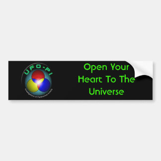 Abra su corazón en el universo pegatina de parachoque