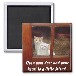 Abra su corazón imán para frigorifico