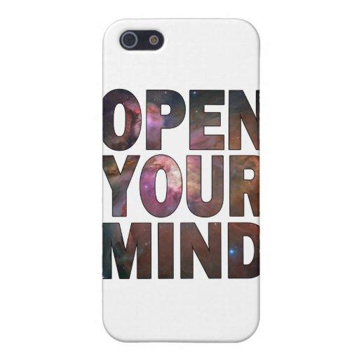 Abra su mente iPhone 5 cárcasas