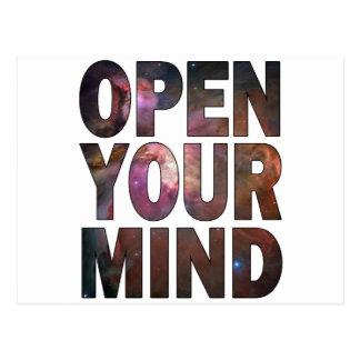 Abra su mente postal