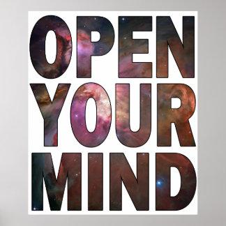 Abra su mente póster