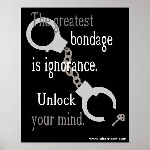 Abra su poster (negro) de la mente