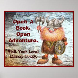Abra un libro. Abra la aventura Póster